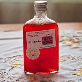 Brusinka bylinný sirup 200 ml